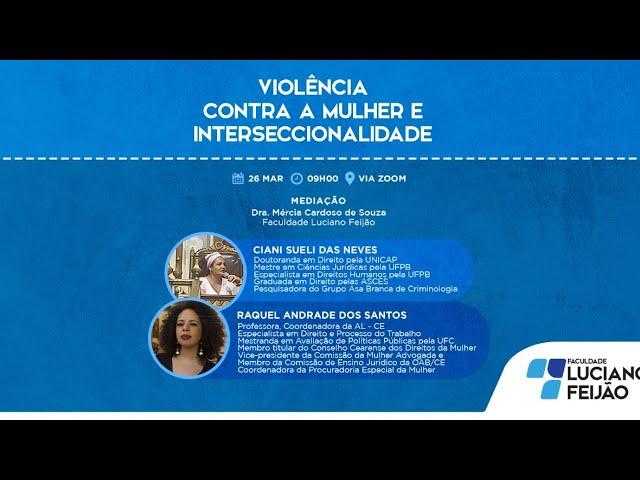 Webinar - Violência Contra a Mulher e Interseccionalidade