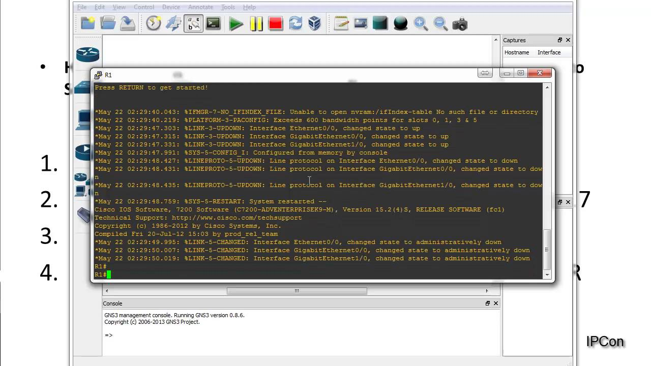 How to Setup Cisco Router in GNS3 for Platform 7206VXR
