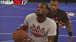 NBA 2K17 LeBron James vs Young Himself