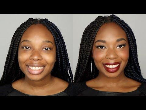 Liquid Liner & Bold Red Lip Makeup Application