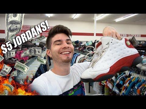$5 JORDAN CHERRY 13s!! Trip to the Thrift #196