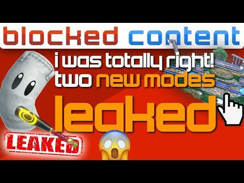 Datamined: YUP! We're Getting TWO NEW MODES! - Super Smash Bros. Ultimate LEAK SPEAK!