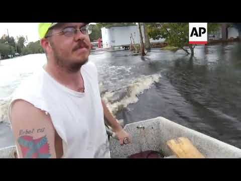 Floods inundate North Carolina town of Trenton after Florence