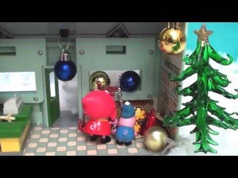 Мультфильм игрушками Свинка Пеппа Свинка Pig. Украшаем дом к Новому Году