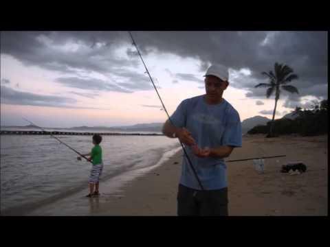 Fishing Kualoa Beach Park, December 2014