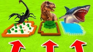 Minecraft PE : DO NOT CHOOSE THE WRONG FARM! (Scorpion, T-Rex & Shark)