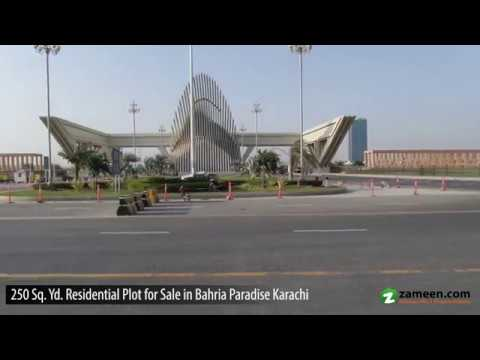 250 Sq. Yd. RESIDENTIAL PLOT AVAILABLE FOR SALE IN BAHRIA PARADISE BAHRIA TOWN KARACHI