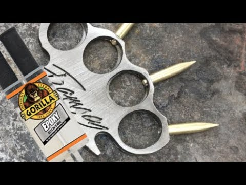 Real Brass Knuckles - Made with Epoxy