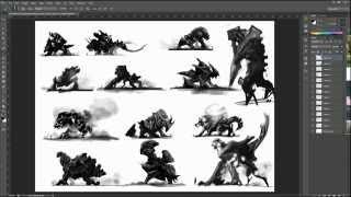 KOHO behemoth thumbnail sketches