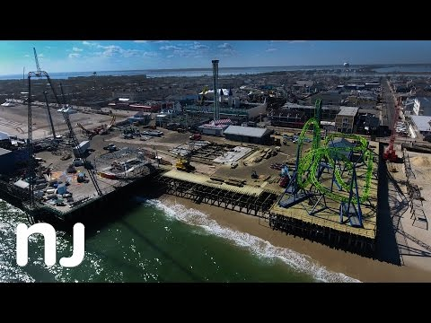 Drone captures expansion at Casino Pier in Seaside Heights