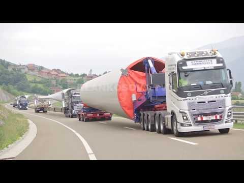 Turbinat gjigante, bllokojne autostradën - 23.05.2018 - Klan Kosova