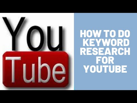 💥 👉 HOW TO DO KEYWORD RESEARCH FOR YOUTUBE 👈 💥