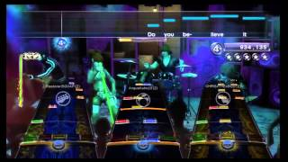 "Rock Band 3 ""Go with the Flow"" by Queens of the Stone Age, 100% Expert full band, with lyrics"