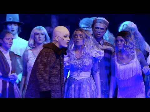 The Addams Family onstage at Champlin Park High School