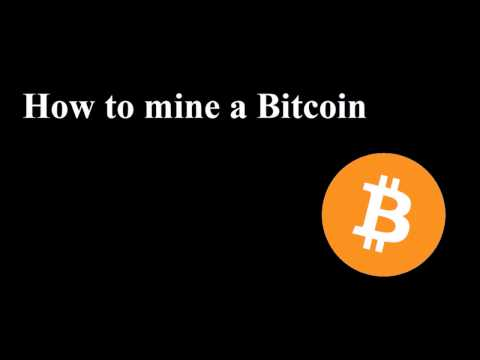 How To Mine A Bitcoin - Tutorial