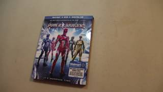 POWER RANGERS (2017) Unboxing!! Blu-Ray/DVD Walmart exclusive