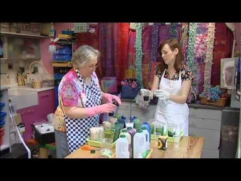 Textiles Art - Dyeing Fabric With Myfanwy Hart - Colouriciou
