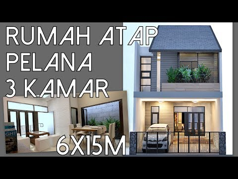 House design with simple roof shape with 3 bedrooms