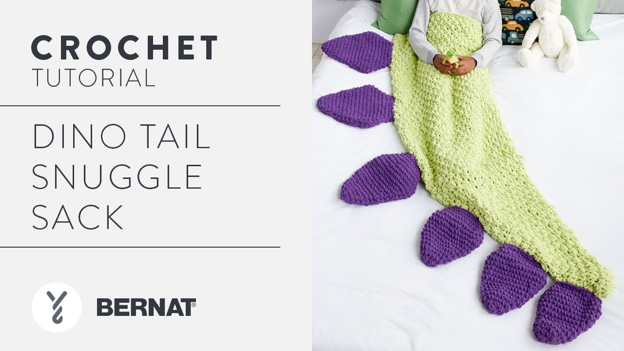 How To Crochet a Dinosaur Tail Snuggle Sack - YouTube