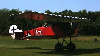 Fokker D-VII - Taxi Run  Tail Shoe Test - Kermit Weeks