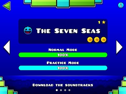 Geometry Dash MELTDOWN - The Seven Seas 100% - Level 1 - By RobTop (All 3 Coins)