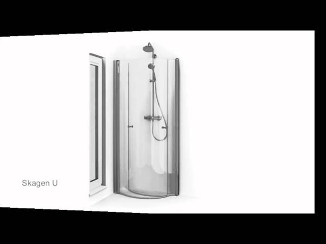 Inredning duschdörrar rak vägg : Skagen U Dusch | kakelhornan.se