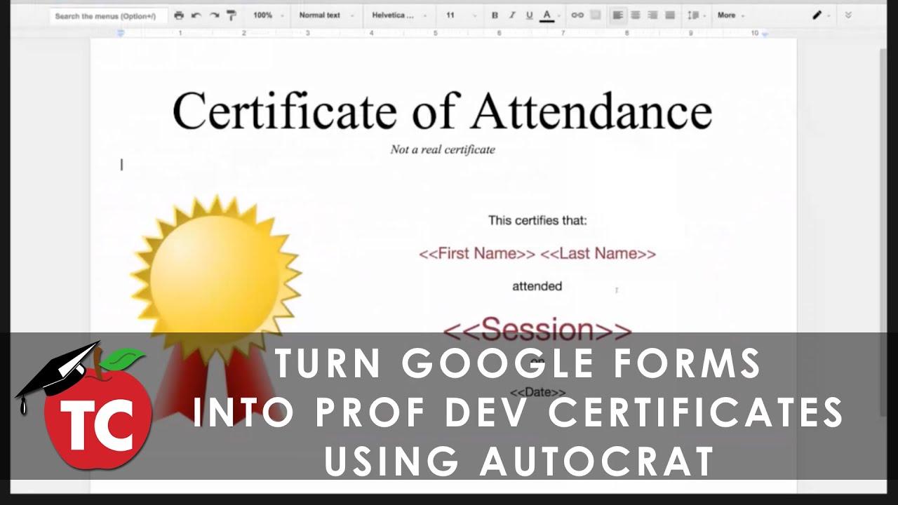 Create professional development certificates from google forms create professional development certificates from google forms using autocrat 1betcityfo Gallery