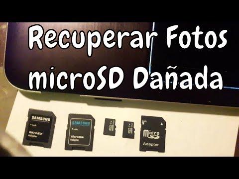 Recuperar Fotos Y Videos De MicroSD Dañadas   Tutorial En Español   Trucos 2017