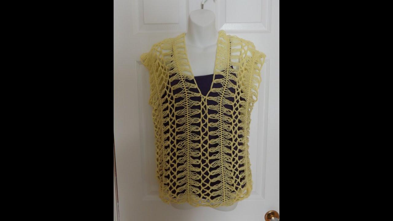 Crochet En Horquilla Blusa De Verano Amarilla Con Ruby
