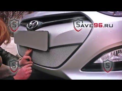 Защита радиатора на Hyundai i30 2 Хендай Ай 30 2012 2015 г.в.