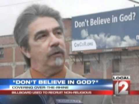 Atheist Billboard - Cincinnati, OH - Cincinnati Coalition of Reason - Local news
