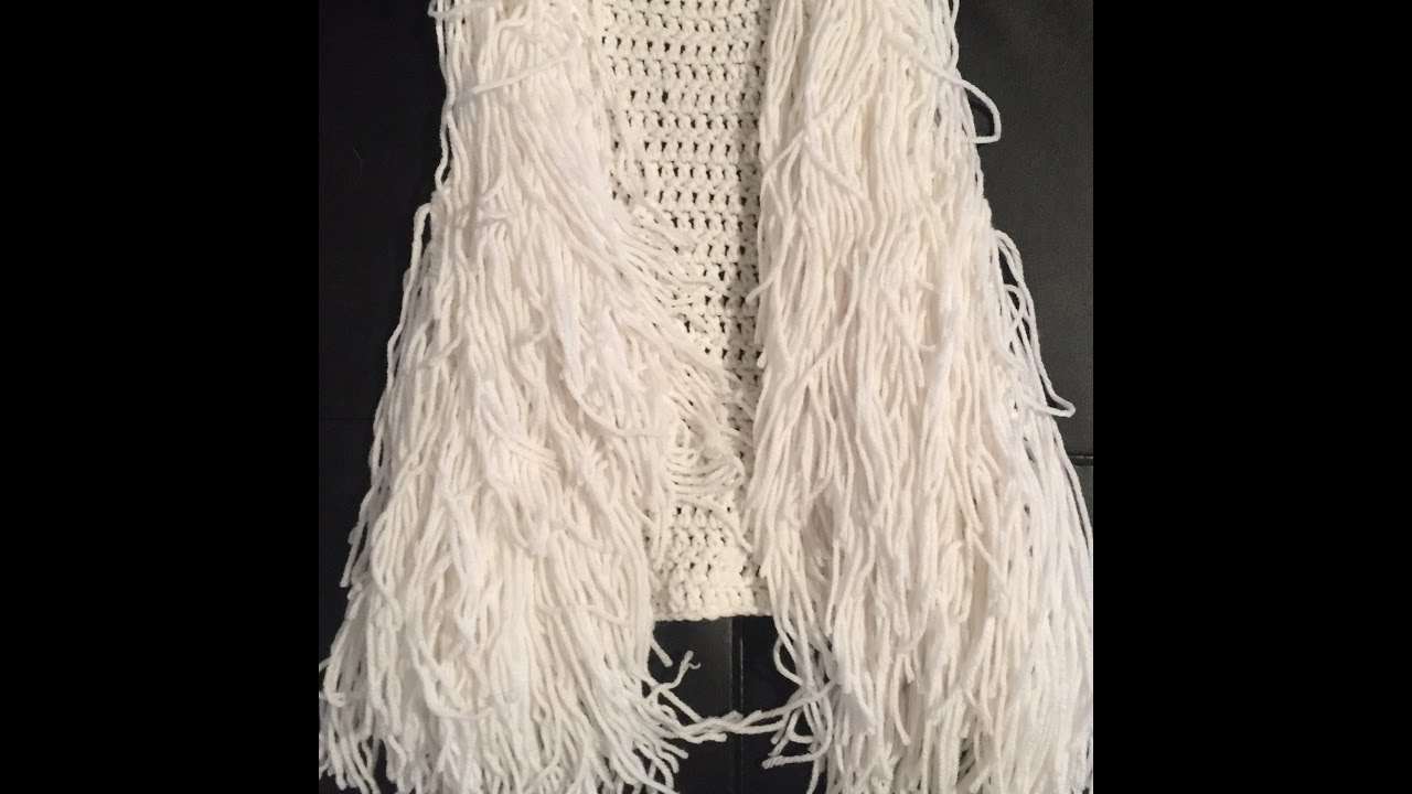 Crochet Toddler Fringe Vest Youtube