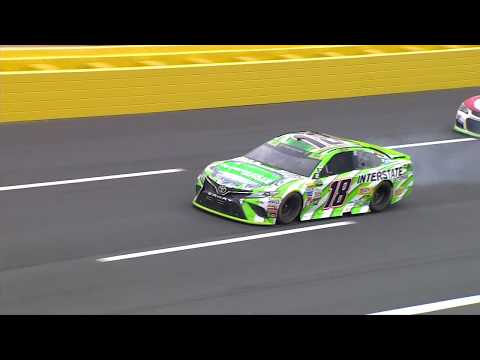 Kyle Busch suffers major damage after hitting wall