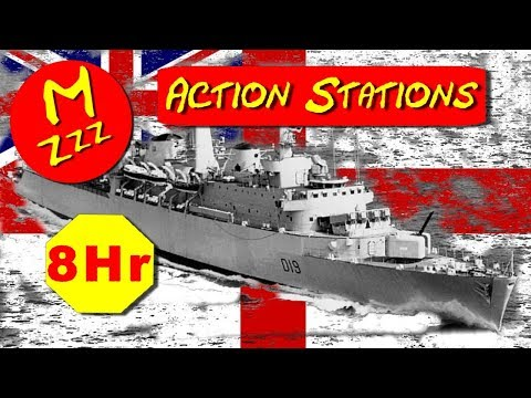 Royal Navy Hands to Action Stations Alarm - Main Broadcast Alarm 8 Hours Royalty Free