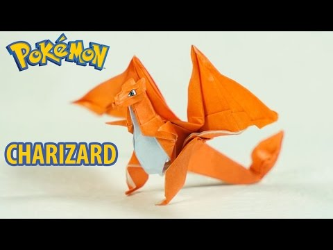 Paper Pokemon - Origami Charizard Tutorial - Intermediate Version (Henry Phạm)