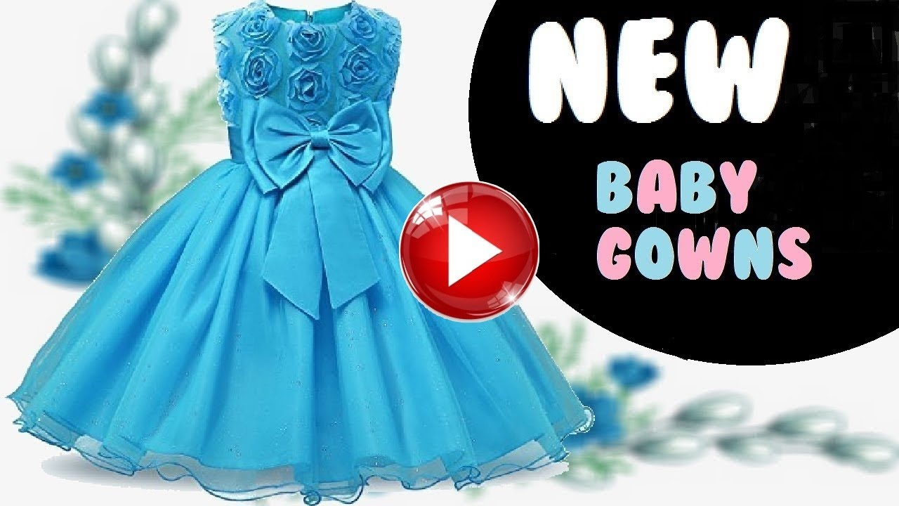 latest baby gown dress designs Party Wear Dresses For Kids in amazon ...