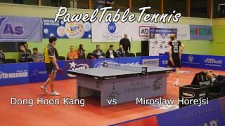 Kang Dong-Hoon vs Miroslaw Horejsi. Superliga Tenisa Stołowego