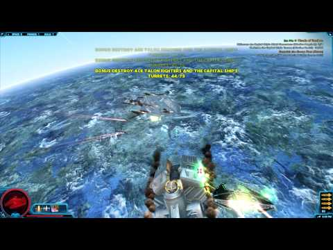 SWTOR – Imperial Space Combat Mission Clouds of Vondoru Walkthrough – Trout In Space – NPFS