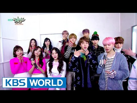 The green room of top song nominees, BTS and Redvelvet [Music Bank / 2017.02.24]