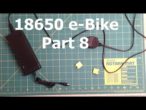 Lithium Ion 18650 48v e-Bike battery build DIY - Part 8 - Charging the battery