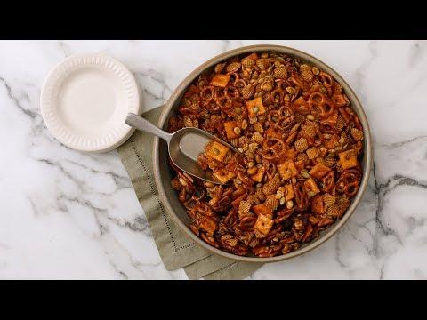 Spicy-Sweet Maple Snack MixMartha Stewart