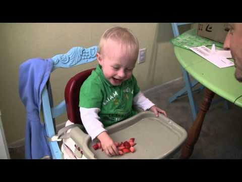 Baby Micah Laughing Hysterically Feeding Daddy