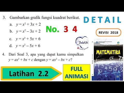 Latihan 2.2 Nomor 3 a b c d 4 Kelas 9 SMP/MTs Persamaan dan Fungsi Kuadrat mtk BSE halaman 92 93 from YouTube · Duration:  27 minutes 48 seconds