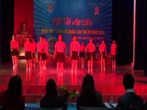 Tiết mục dự thi Aerobic của trường THPT Chuyên Lê Quý Đôn - tỉnh Lai Châu