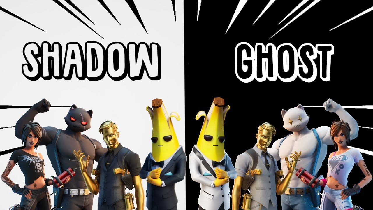It is a picture of Impeccable Fortnite Ghost And Shadow Skin Drawing