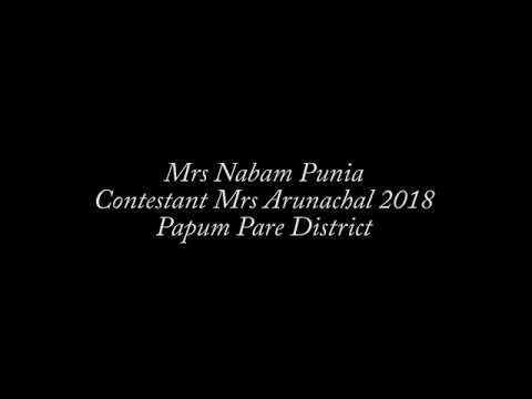 A finalist of 7th Edition Mrs. Arunachal, 2018 Mrs. Nabam Punia From Papum Pare Dist.