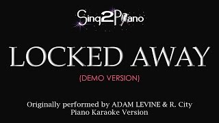 Video Locked Away (Piano Karaoke demo) R. City & Adam Levine download MP3, 3GP, MP4, WEBM, AVI, FLV Oktober 2017