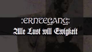 Erntegang - Alle Lust will Ewigkeit