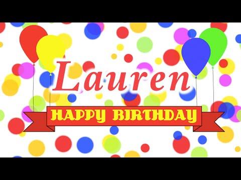 Happy Birthday Lauren Song