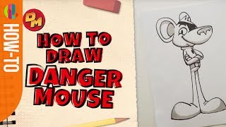 Danger Mouse | How to draw Danger Mouse | CBBC